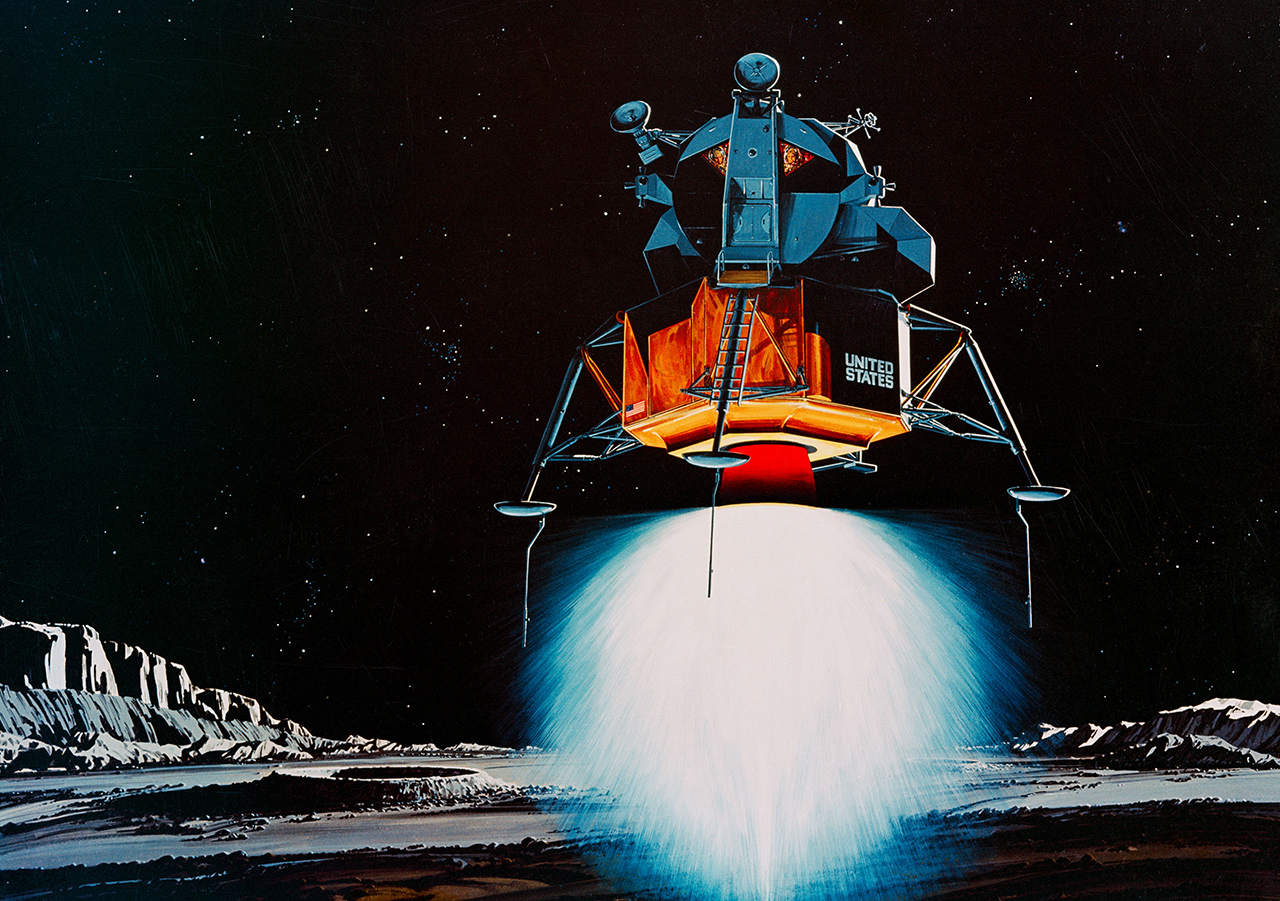 NASA apollo 11 lander illustration