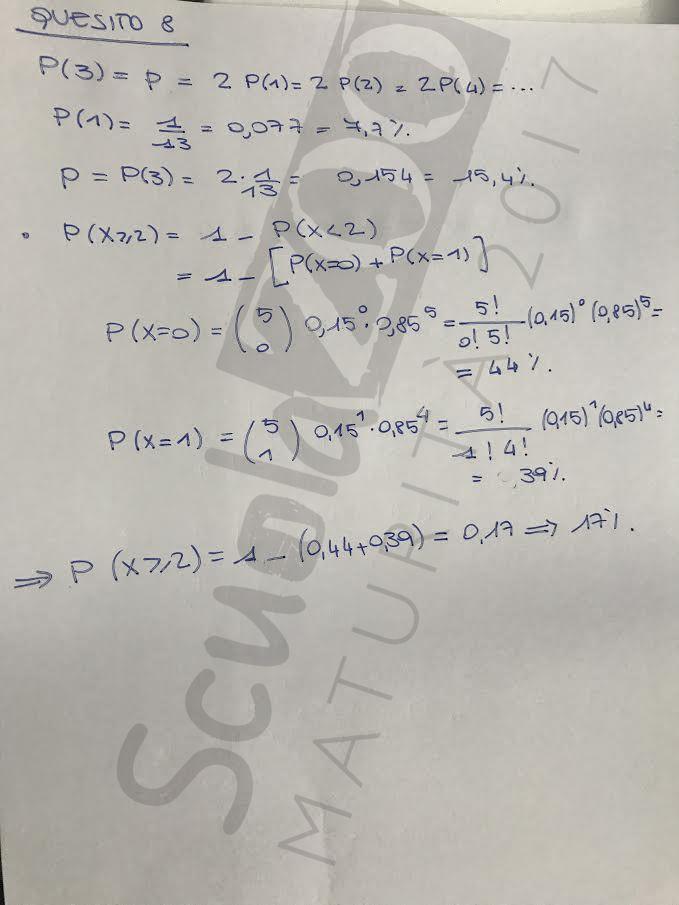 Maturità 2017 Matematica Problemi Quesiti E Soluzioni Xvid