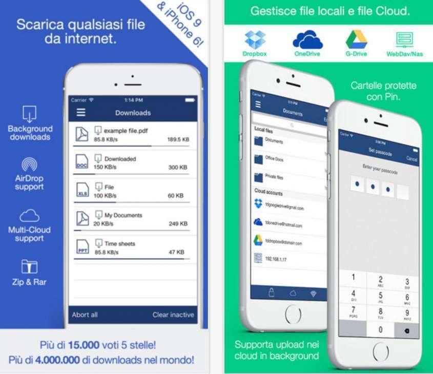 App per iphone 6s per scaricare musica